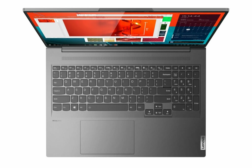 The Lenovo IdeaPad Slim 7 Pro can run up to a Ryzen 7 and GeForce RTX 3050 Laptop GPU.