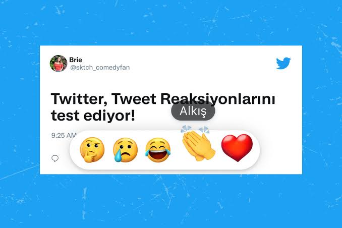 Twitter emoji reactions