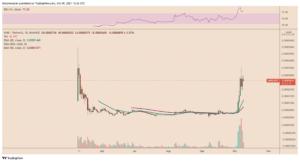 SHIB/USDT daily price chart