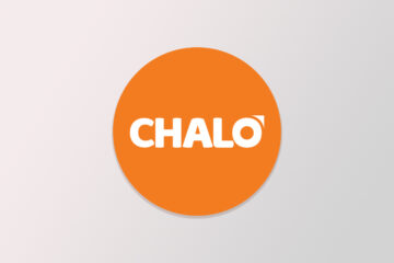 Chalo logo on a gradient background