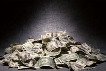 dollars pile of Dollars darkness creative money