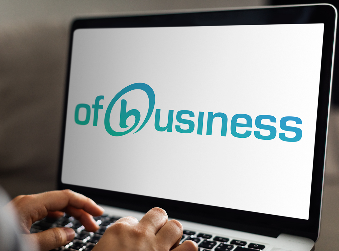 Ofbusiness logo on laptop screen