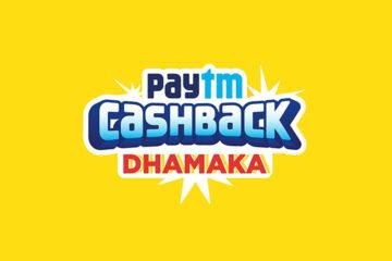 Official Banner of Paytm Cashback Dhamaka