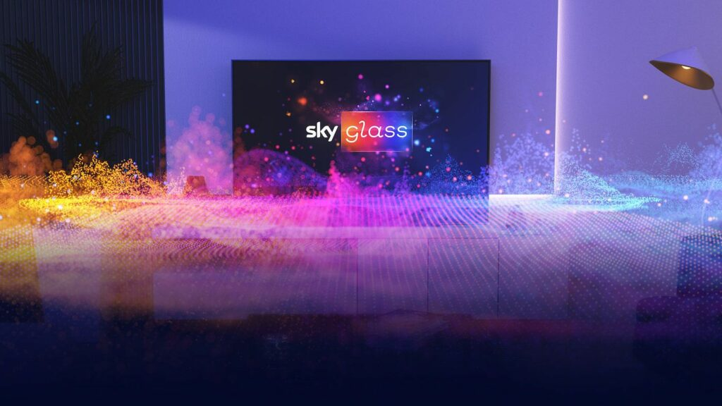 Sky Glass TV featuring built-in Sky, 4K HDR & Dolby Atmos