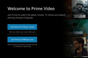 amazon prime Rs. 129 monthly subscription