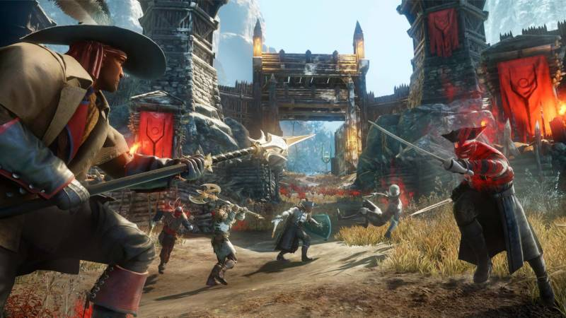 Scenes from Amazon's New World video game.
